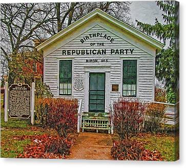 Birthplace Republican Party Canvas Print by Trey Foerster