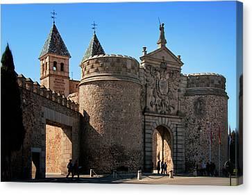 Bisagra Gate Toledo Spain Canvas Print by Joan Carroll