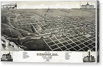 Bismarck, North Dakota, The Capital Canvas Print by Everett