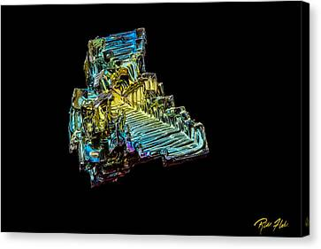 Canvas Print featuring the photograph Bismuth Crystal by Rikk Flohr