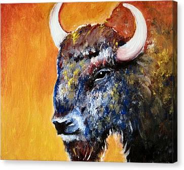 Bison Canvas Print by Anastasis  Anastasi