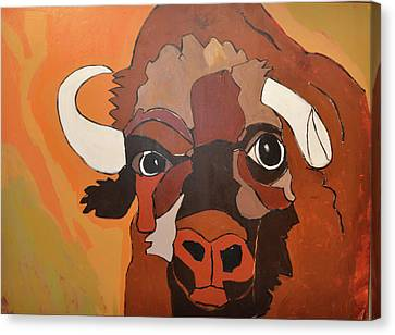 Bison Bull Canvas Print