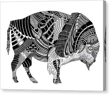 Bison Canvas Print by JF Mondello