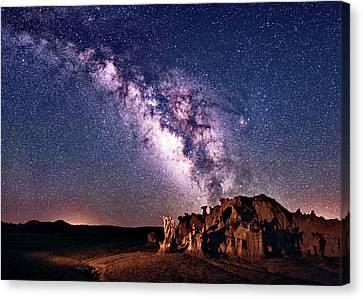 Bisti Badlands Night Sky Canvas Print