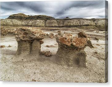 Canvas Print featuring the photograph Bisti Mushrooms by Alan Toepfer