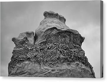 Canvas Print featuring the photograph Bisti V Bw by David Gordon
