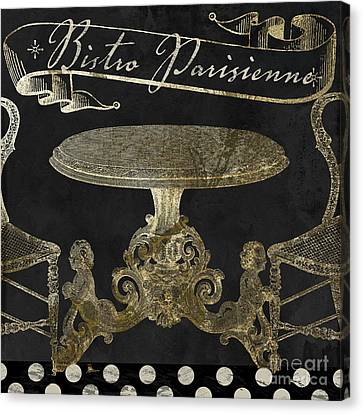 Bistro Parisienne Gold Canvas Print by Mindy Sommers