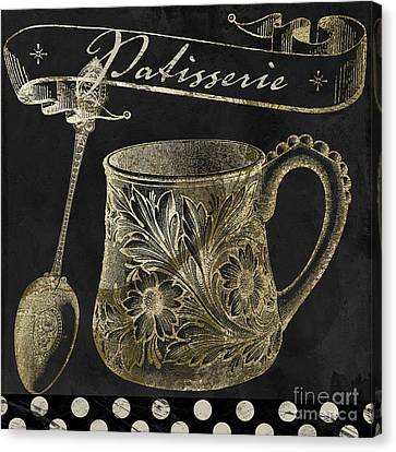 Bistro Parisienne Patisserie Gold Canvas Print by Mindy Sommers