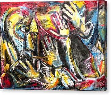 Bite The Hand That Feeds  Canvas Print by Jon Baldwin  Art
