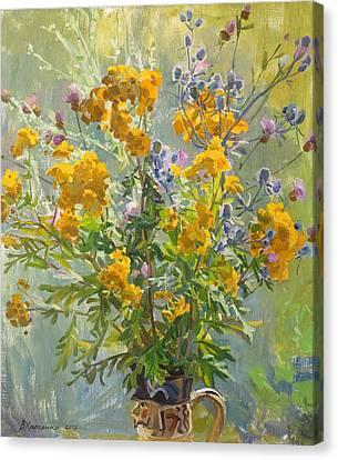 Bitter Herbs Canvas Print by Victoria Kharchenko