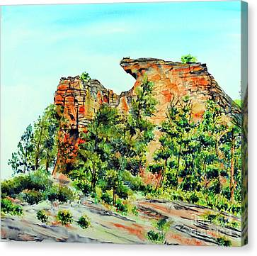 Bitterroot Cliffs Canvas Print by Tracy Rose Moyers