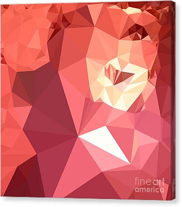 Bittersweet Red Abstract Low Polygon Background Canvas Print by Aloysius Patrimonio