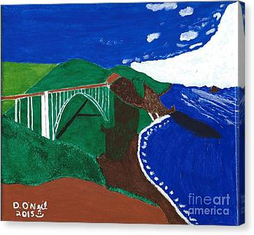 Bixby Bridge Blues Canvas Print by Dennis ONeil