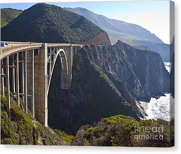 Bixby Bridge Crossing A Chasm Canvas Print