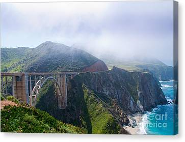 Bixby Bridge Fog Canvas Print by Digartz - Thom Williams