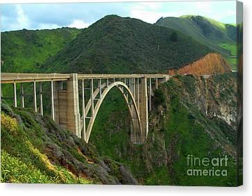 Big Sur Canvas Print - Bixby Bridge In Big Sur by Charlene Mitchell