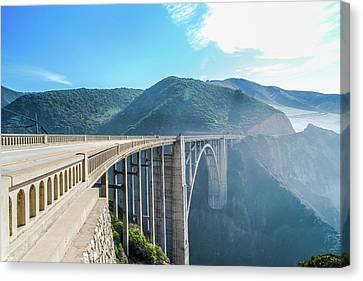 Canvas Print featuring the photograph Bixby Bridge,big Sur by Jingjits Photography