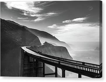 Canvas Print featuring the photograph Bixby Creek Bridge,big Sur by Jingjits Photography