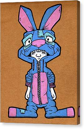 Bizarre Bunny Mascot Canvas Print by Bizarre Bunny