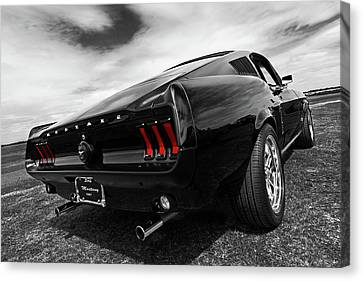 Black 1967 Mustang Canvas Print