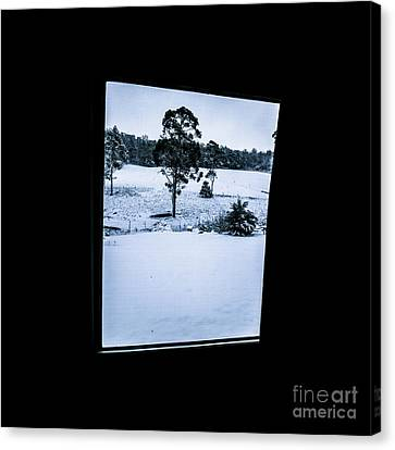 Black And Blue Snow Landscape Canvas Print by Jorgo Photography - Wall Art Gallery
