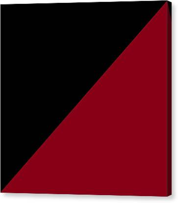 Mills Canvas Print - Black And Burgundy Triangles by Marianna Mills