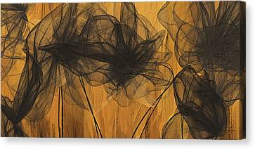 Black And Gold Abstract Art Canvas Print by Lourry Legarde