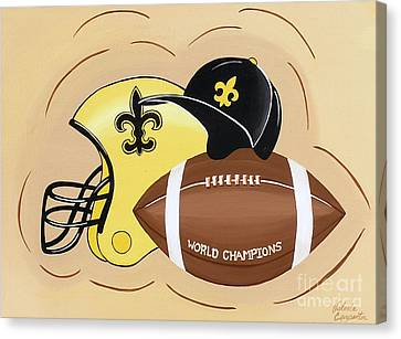 Black And Gold Champs Canvas Print