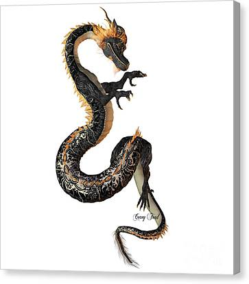 Black And Gold Dragon Canvas Print