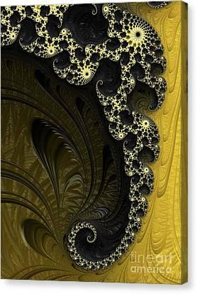 Black And Gold Elegance Canvas Print by Elaine Teague