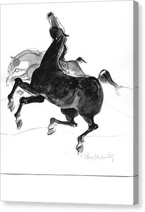 Black And Gray Canvas Print by Mary Armstrong