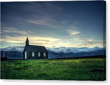 Canvas Print featuring the photograph Black And Isolated by Peter Thoeny