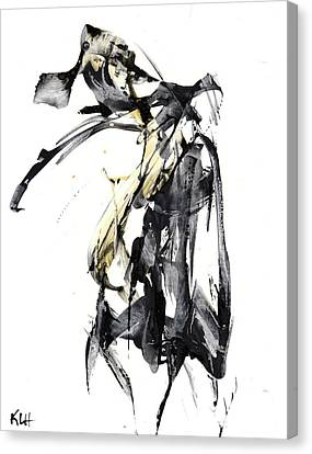 Black And White Abstract Expressionism Series 7344.072009 Canvas Print by Kris Haas