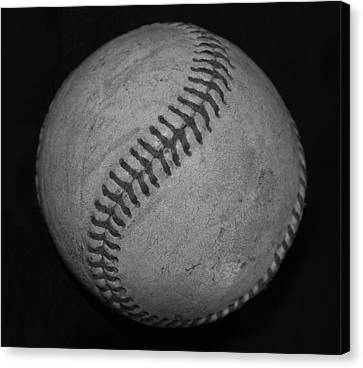 Black And White Baseball Canvas Print by Rob Hans