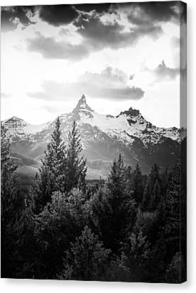 Black And White Beartooth Peak Canvas Print