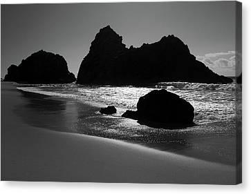 Black And White Big Sur Landscape Canvas Print by Pierre Leclerc Photography