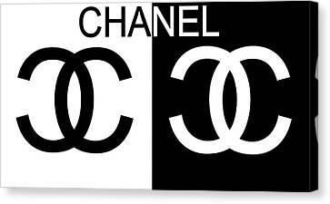 Monroe Canvas Print - Black And White Chanel by Dan Sproul