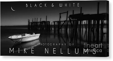 Black And White Coffee Table Book Cover Canvas Print