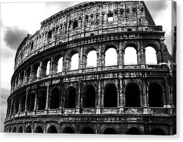 Black And White Colosseum Canvas Print