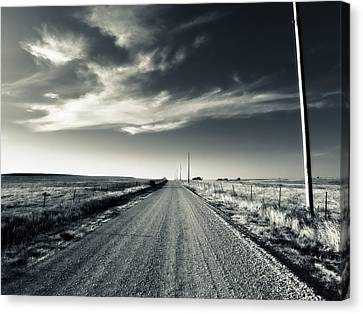 Black And White Gravel Canvas Print by Eric Benjamin