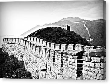 Black And White Great Wall Canvas Print by Alessandro Giorgi Art Photography