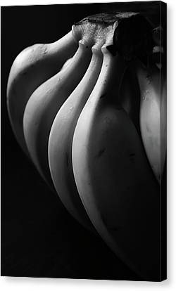 Black And White Image Of Banana Canvas Print by By Ale_flamy