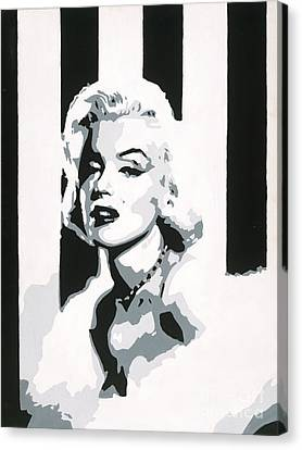 Black And White Marilyn Canvas Print