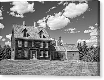 Black And White Photograph Of Olsen House Cushing Maine Canvas Print by Keith Webber Jr