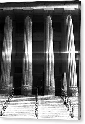 Black And White Pillars Canvas Print
