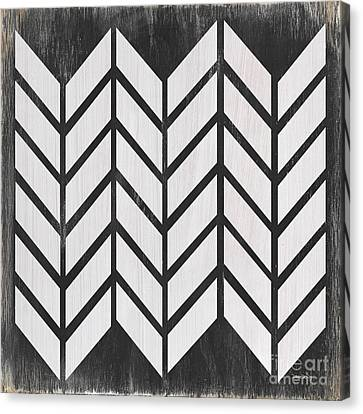 Block Quilts Canvas Print - Black And White Quilt by Debbie DeWitt