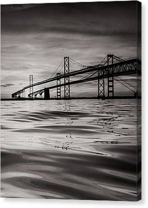 Canvas Print featuring the photograph Black And White Reflections 2 by Jennifer Casey