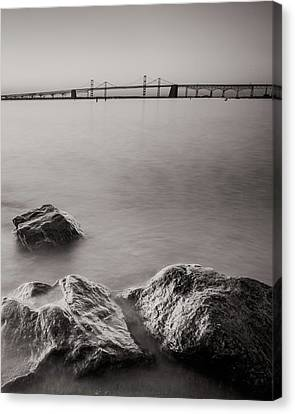 Black And White Sandy Point Canvas Print