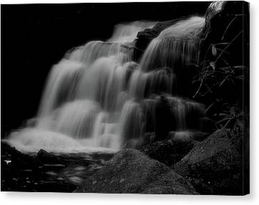 Black And White Shays Run Waterfall Canvas Print