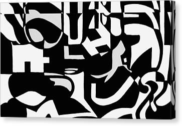 Black And White Still Life Canvas Print by Molly Williams